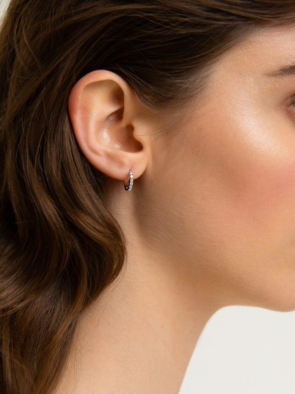 nastro t+amo earrings white diamonds